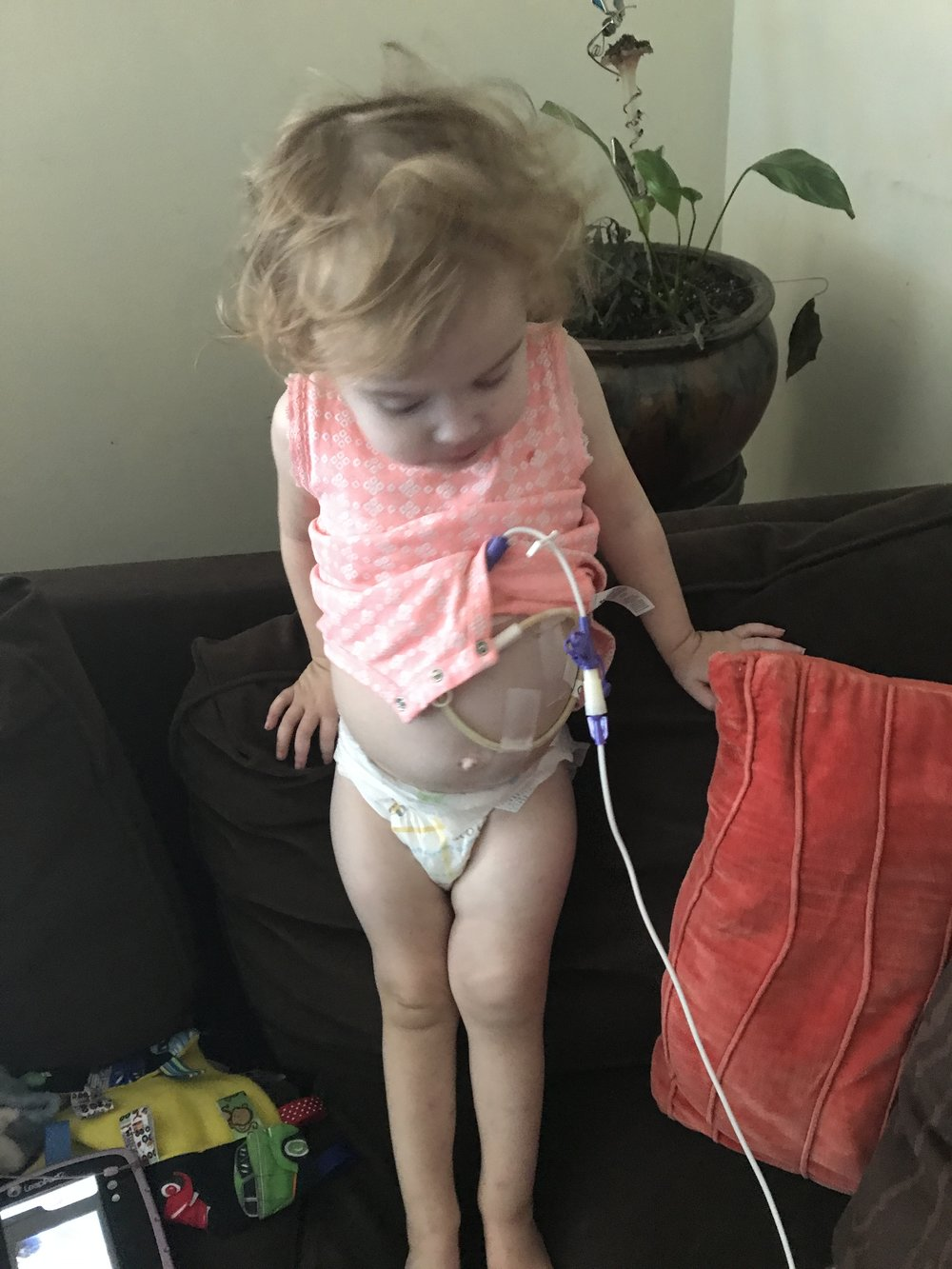 To be a tubie guarantees that your child will get proper nutrition. It's not always easy; sometimes your little will be too busy to sit still, sometimes your pump just will not cooperate, but the next time your baby is weighed, you'll be so grateful. - Magnolia Grace