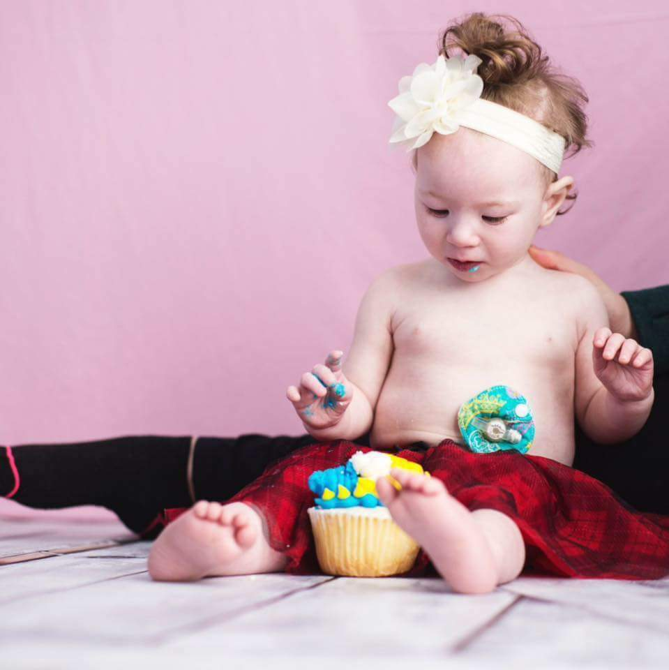 Just because I have a feeding tube doesn't mean I can't try some cake! - Ellie Henebury