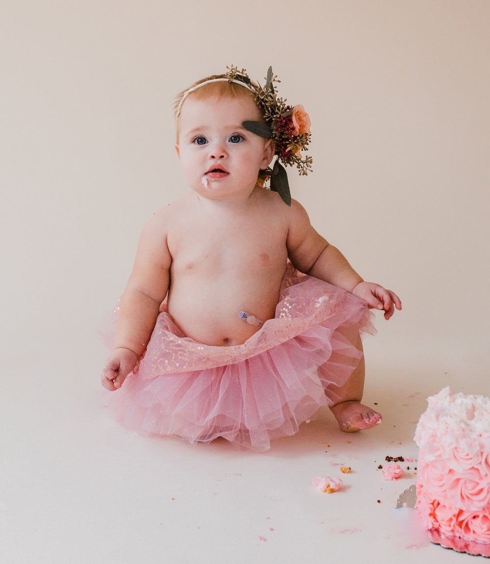 Tubies can be pretty picky eaters. Don't be surprised if a smash cake ends up not being smashed. - Averi