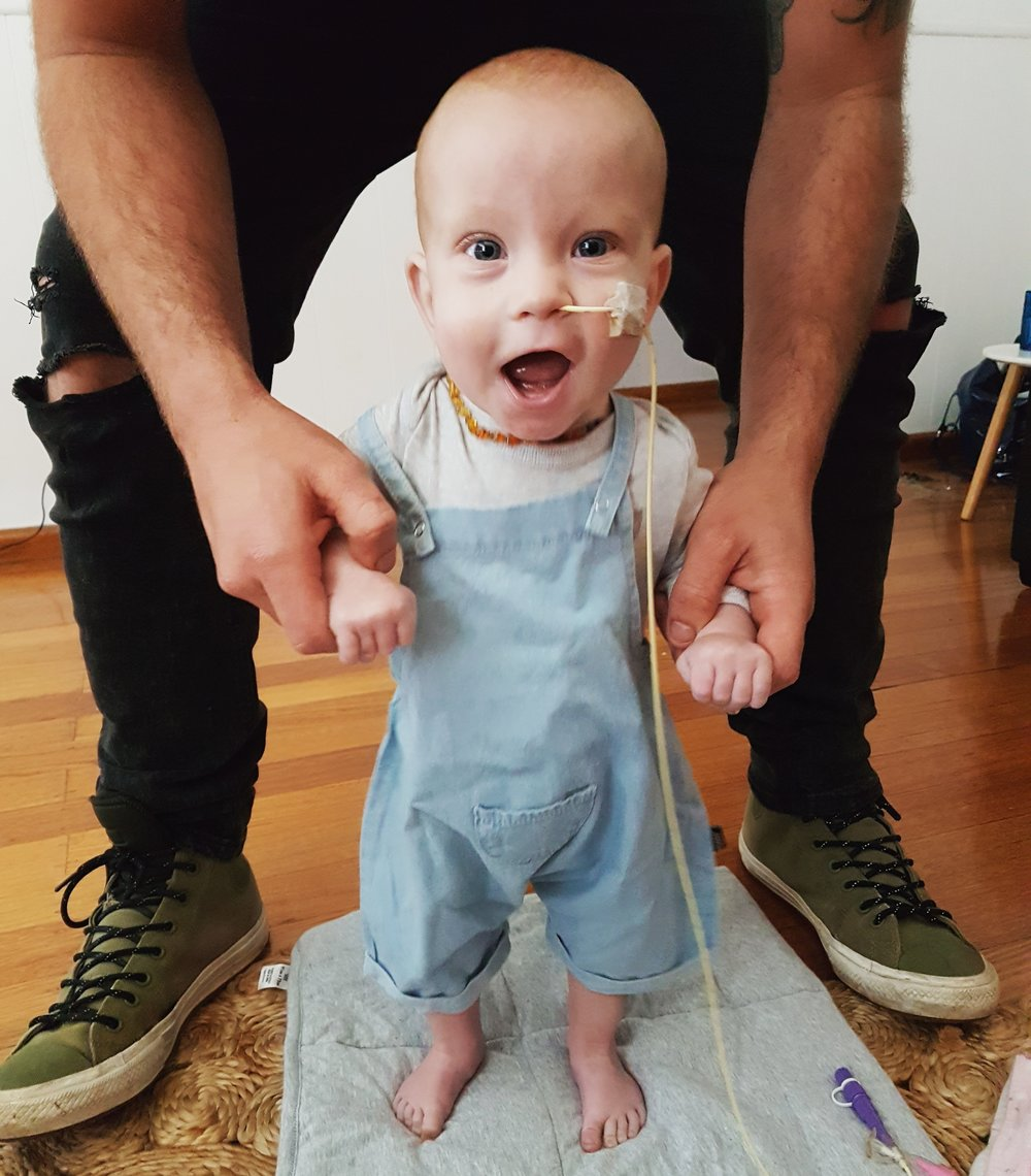 Having a feeding tube is bittersweet, its helping him grow but it also means your baby isn't a