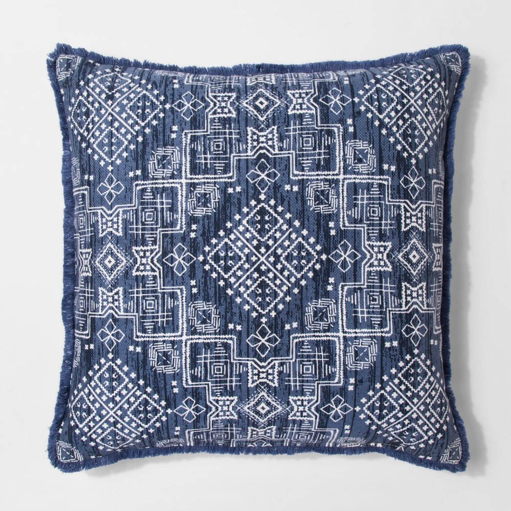 Blue Global Pillow