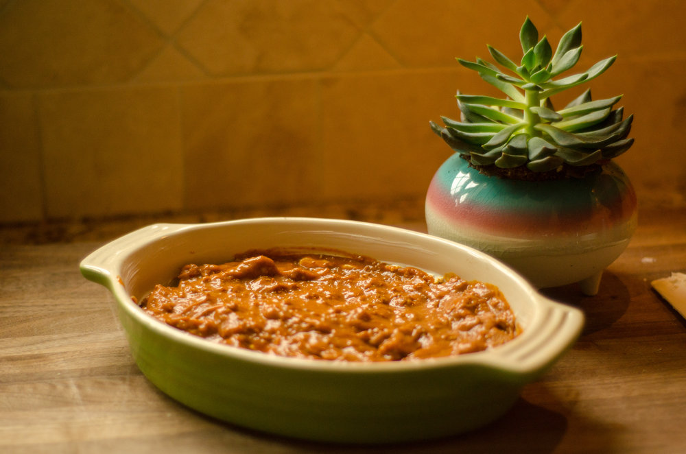 layer chili on top -