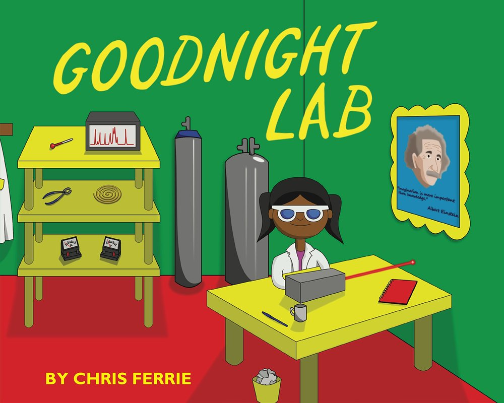 8. Goodnight Lab - This book is a scientific parody of Goodnight Moon using scientific terms and the scientist saying good night to items in her lab. it doesn't shy away from big words and that it features a female scientist on the cover!In the great green labThere was a laserAnd a lab notebookAnd a picture of Einstein with a stern look