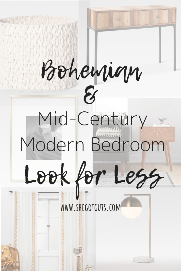 Image of: Bohemian Mid Century Modern Bedroom Look For Less She Got Guts