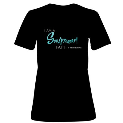 Women's Soulprenuer tee - $ 30.00 FREE  SHIPPINGShirt available in white alsoSizes: S - XXLSHIPS IN 10-14 DAYS
