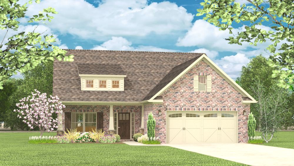 The Hawthorne 1709 SF Single Story with Optional Bonus Room 3-4 Bedroom | 2-3 Bath Available in: Greenbrier Hills On Your Land