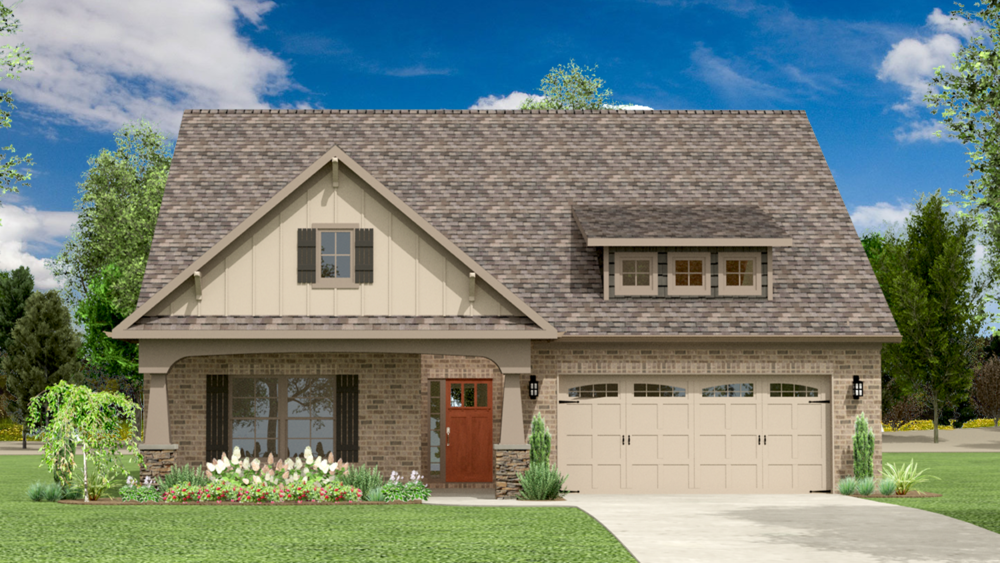 The Longfellow 1907 SF Single Story with Optional Bonus Room 3-4 Bedroom | 2-3 Bath Available in: Greenbrier Hills On Your Land