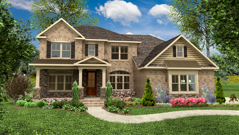 The Adams I 3251 - 3537 SF Two Story Home 4-5 Bedrooms | 2 - 3 1/2 Bath Available in: Greenbrier Woods On Your Land