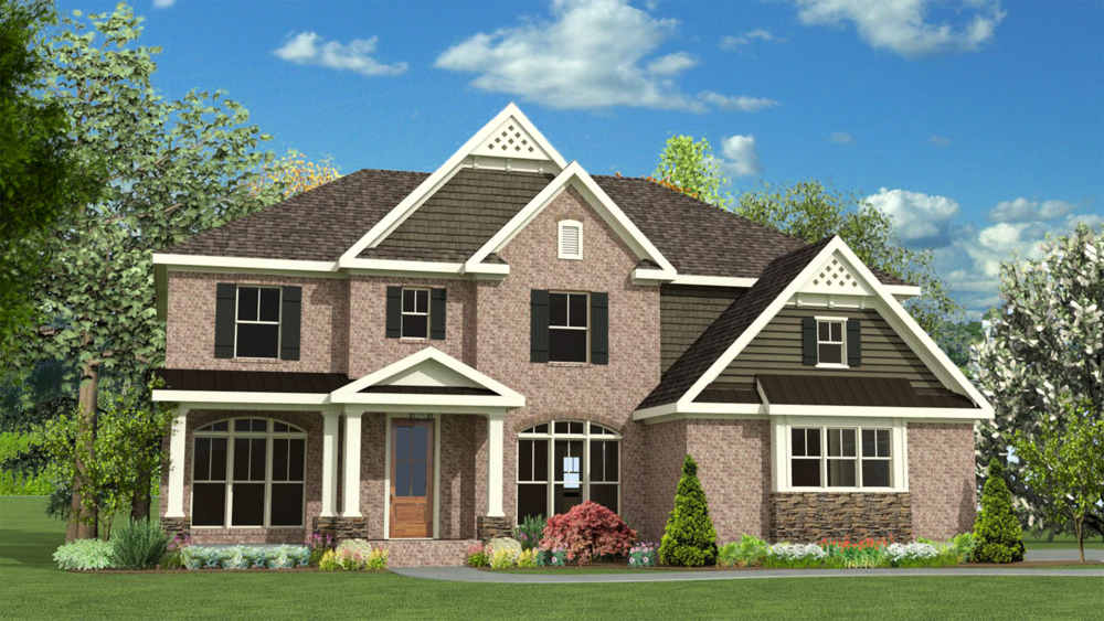 The Monroe 2892 SF 4 Bedrooms | 2 1/2 Bath Available in: Greenbrier Woods On Your Land