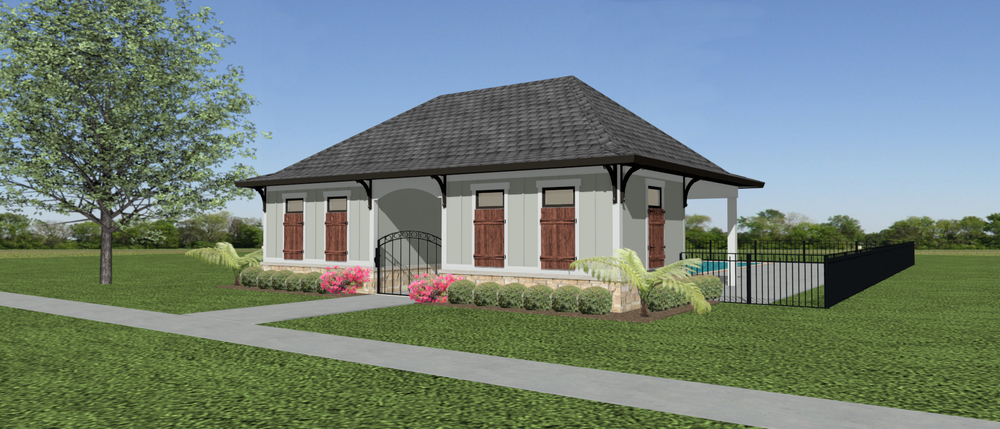 Artistic Rendering of the Greenbrier Hills Cabana - Coming Soon in Phase II