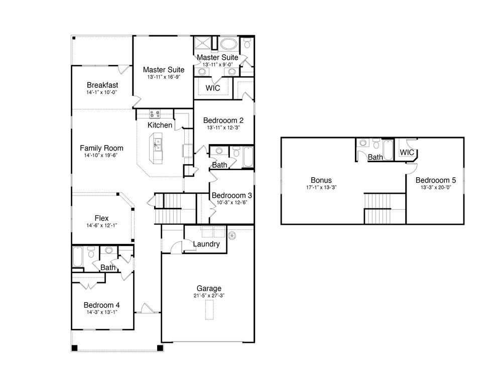 Hemingway with Bonus Room Option