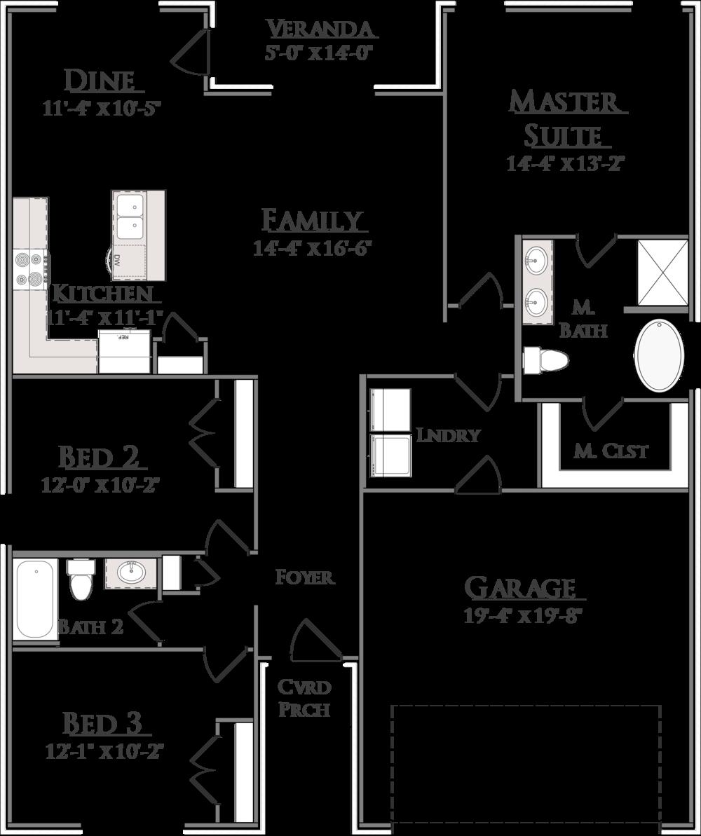 Douglass Floor Plan