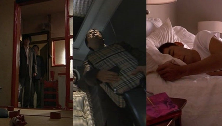 Dark Tales of Japan  includes five different shorts. Pictured are (L-R): Crevices, The Sacrifice, and Blonde Kwaidan.
