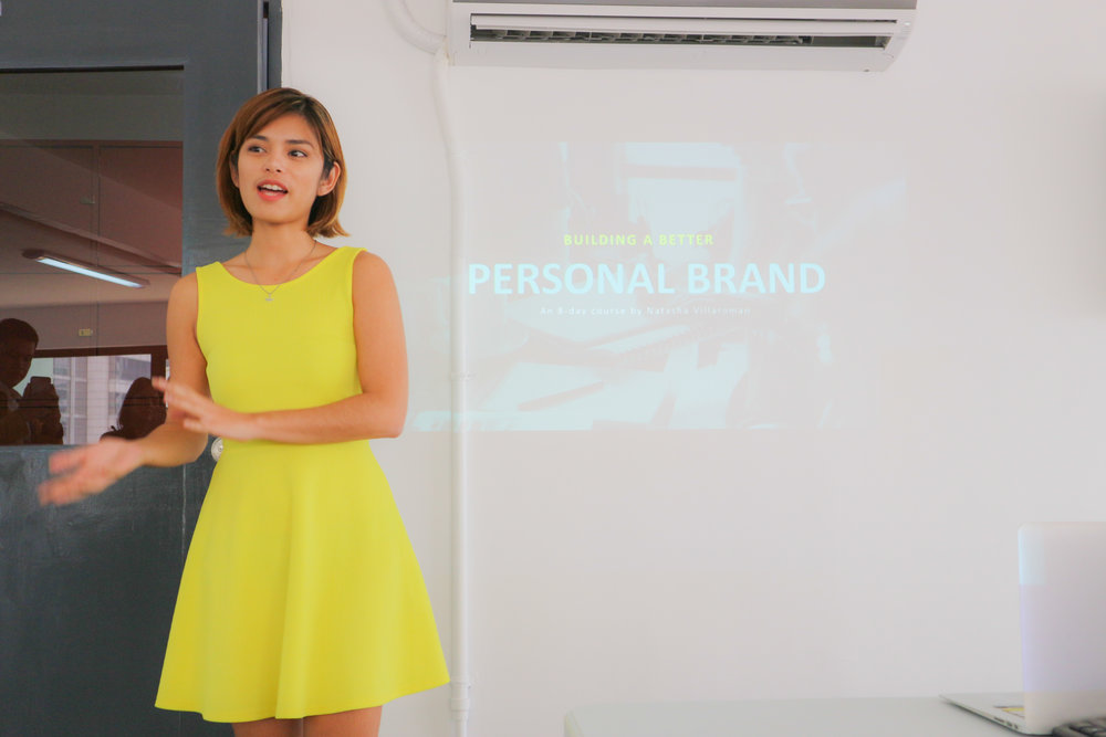 Natasha Villaroman, one of Integra's instructors who held a short seminar on Personal Branding. She's the other half of The Traveling Foxes.