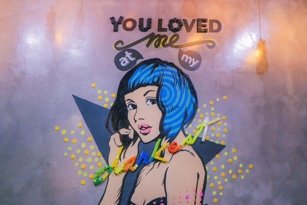 """A wall at BLK 513: """"You Loved Me At My Darkest"""". Luh."""