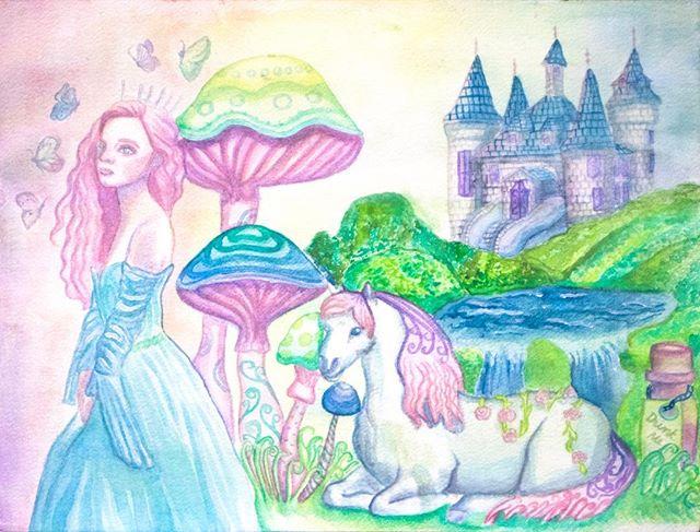 おやすみ⭐ #watercolor #watercolorpainting #watercolorillustration #artph