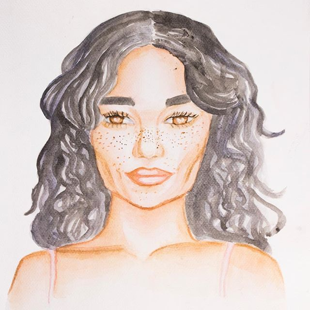 Based on an image of Tashi  Rodriguez that I found through Pinterest #watercolor #portrait #watercolorillustration