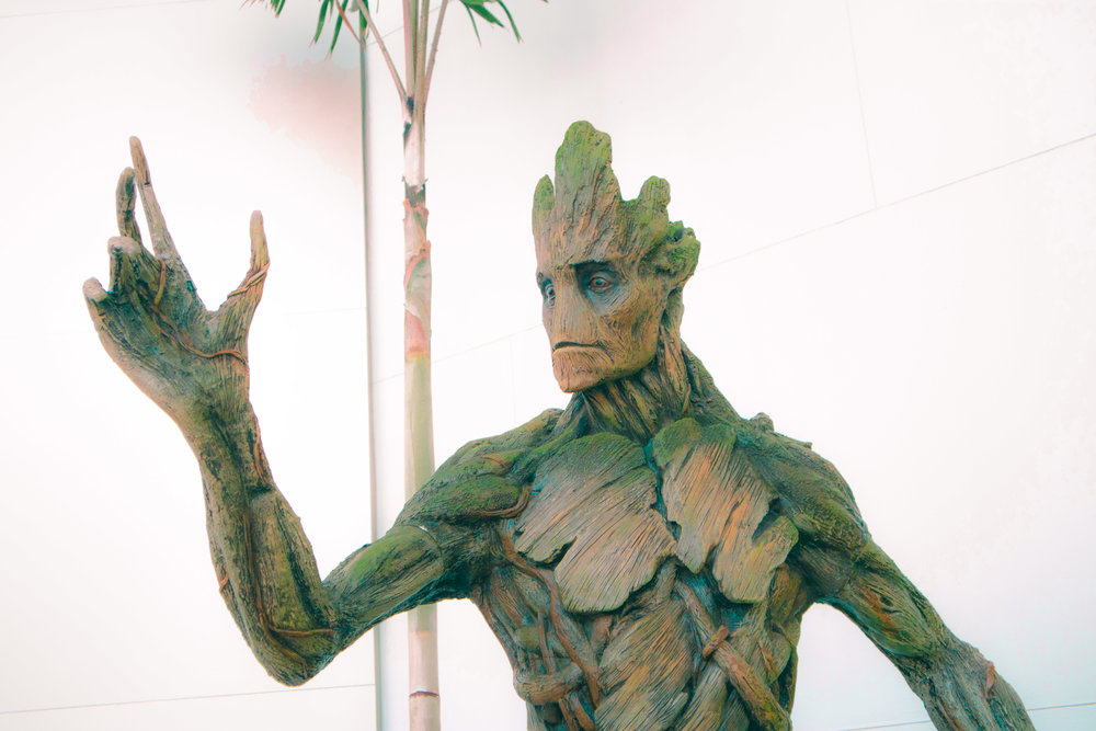 """Groot welcomes you in with a hello, or as he'd say, """"I am Groot"""""""