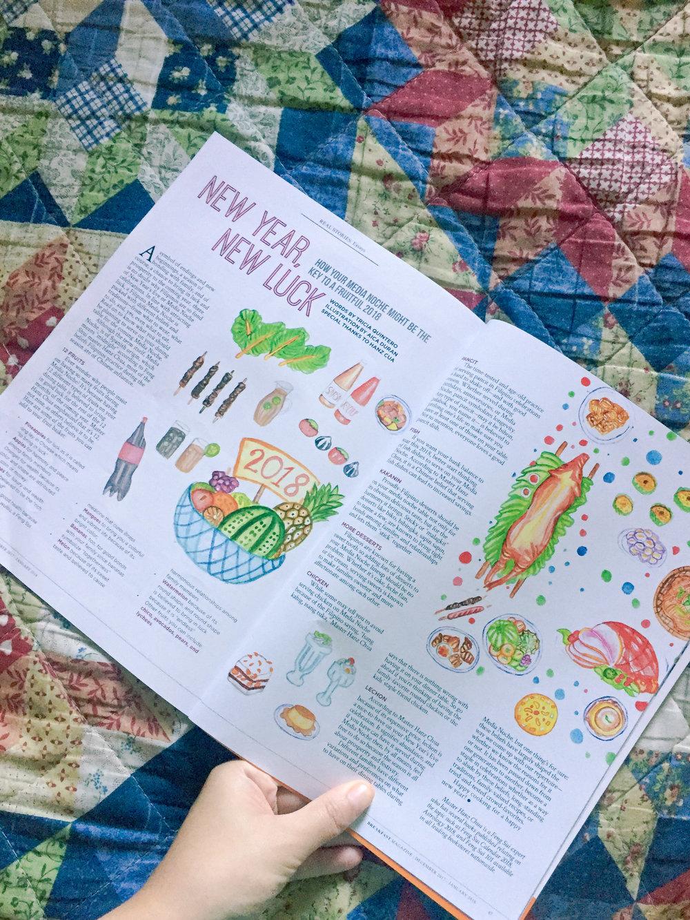 breakfast magazine, first published illustration, illustration work