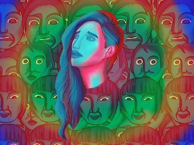 How my anxiety and stress look like #ipadpro #ipadproart #procreate #illustration #digitalcanvas #suspiria #hausu