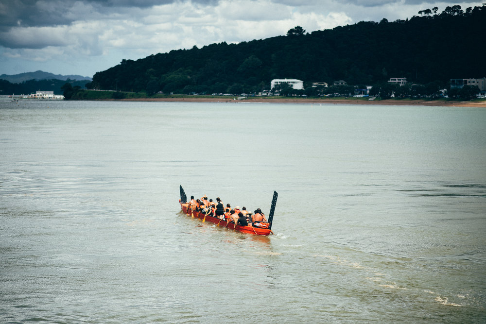 After the visit to Paihia school, we got to explore the sights and sounds - a waka powering through the waves is always an awesome sight to behold.