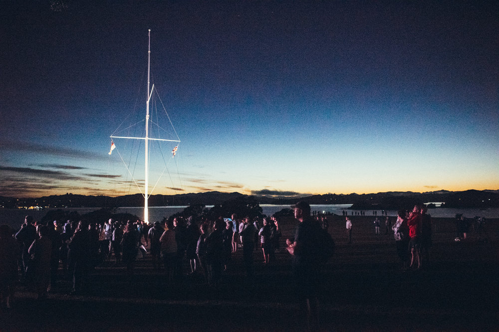 Tuesday, Waitangi day, started with a dawn service - well worth the 4am start. Please excuse the grain, it was pretty much pitch black.