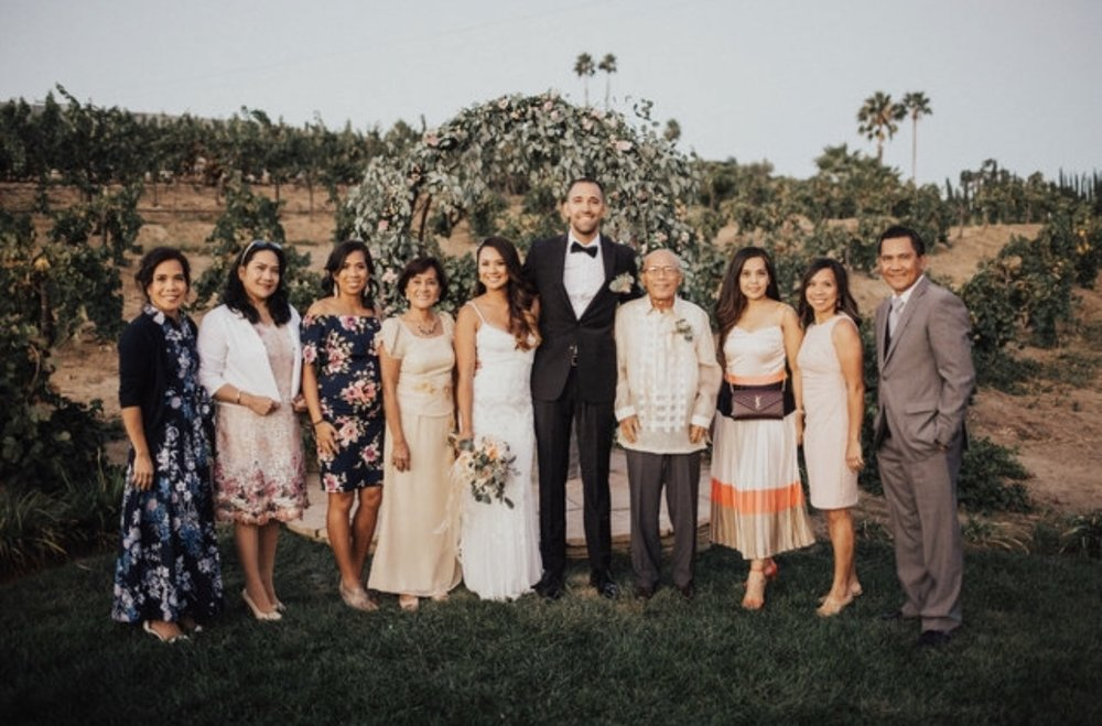 This wedding brought my 5 sisters, 1 brother, and both parents together for the first time in 30 years. That means getting them to come from the Philippines, Okinawa (Japan), Hawaii, and all over California. Cheers to that!