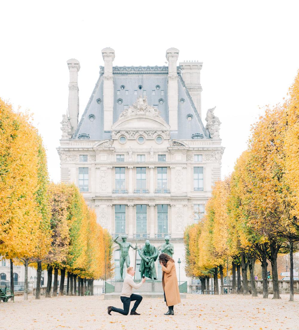 surprise proposal  photographer in paris