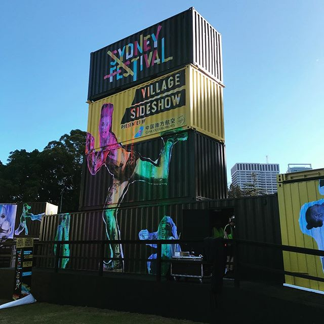 """The Continuum"" at this years @sydney_festival . Definitely the biggest #tobyandpete installation yet. Meates inside these 4 shipping containers is a small suns worth of LED. 😎 Music complimentary of @futureclassic"