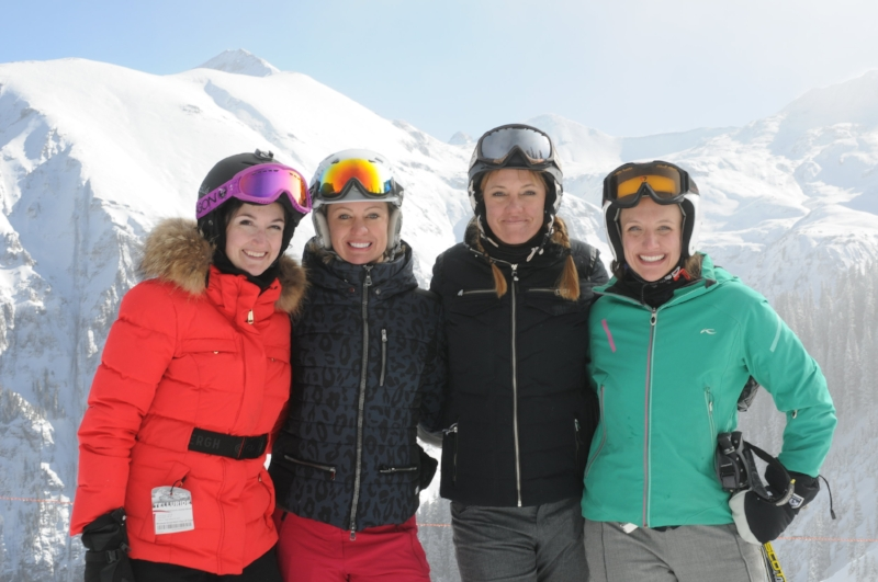 Girlfriend time on the mountain -