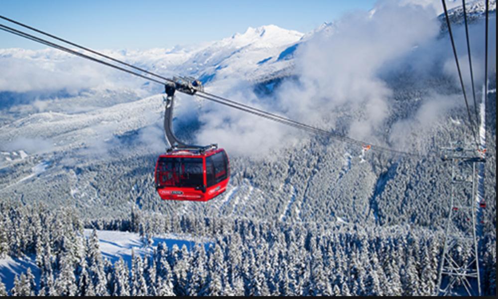 LET'S SKI IN CANADA - ENJOY TWO MOUNTAINS BY TAKING THE PEAK TO PEAK GONDOLA IN WHISTLER BLACKCOMB, BC