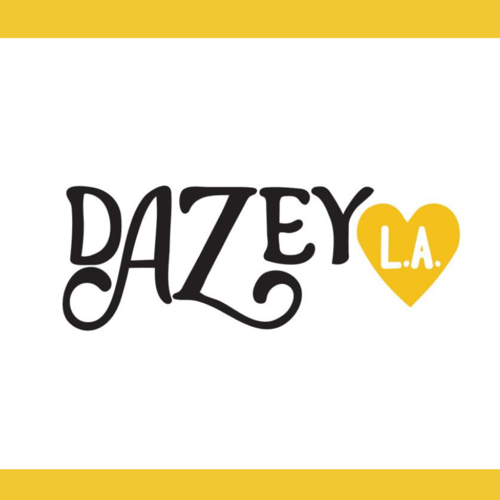 Dazey 's in house brand is a line of graphic art apparel hand drawn and handmade to order in LA. The theme of all the artwork ties back into their mission to empower women.  SAF was proud to offer a discount code for  Dazey LA  products during Season 1.