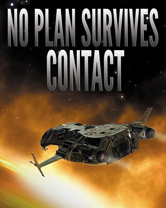"Cover reveal for the new book! ""No Plan Survives Contact"" is the fourth book in the #scifi series. It's out on #Kindle now, and free on #kindleunlimited for readers. #sciencefiction #spaceopera #kindlebooks Print version coming soon for those who love #paperbooks!"