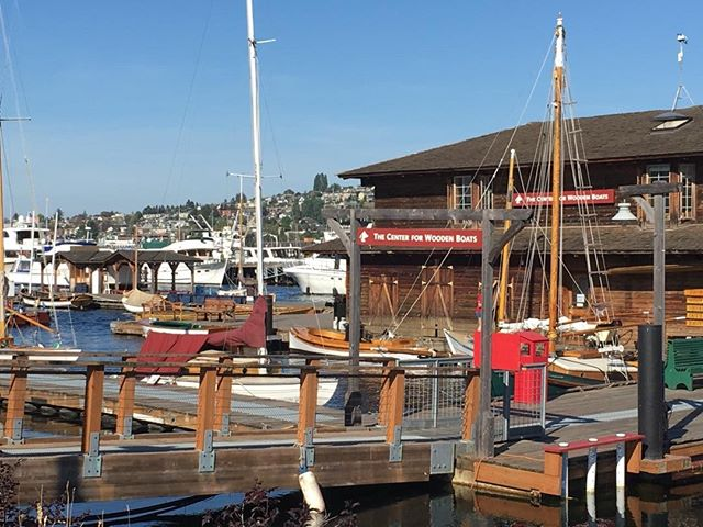 Future venue for the wedding of myself and @sailorinastrangeland - what an awesome site we picked! #Seattle #centerforwoodenboats #sailing #wedding