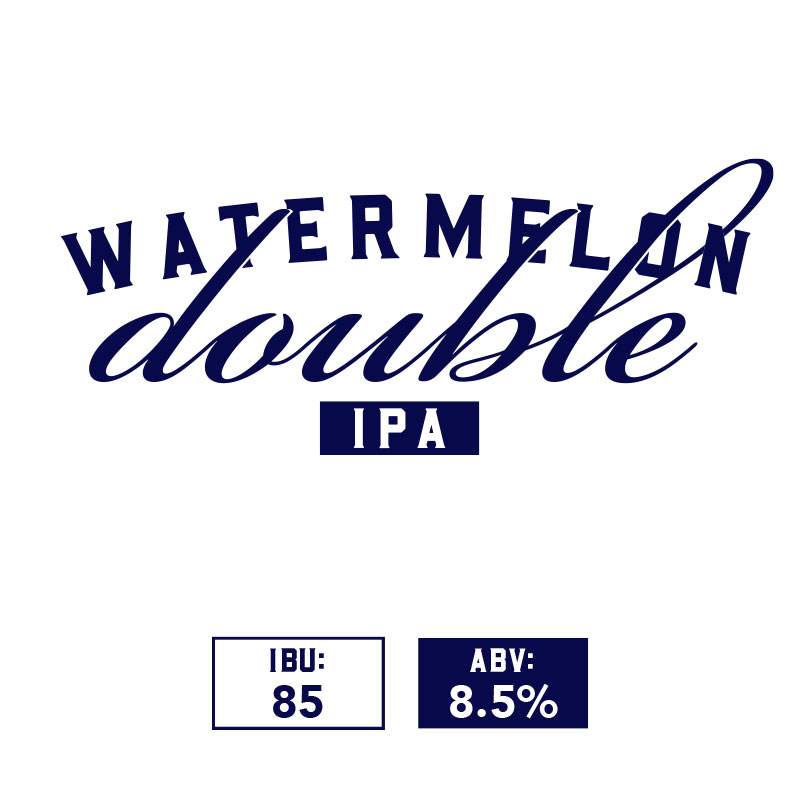 Flavor and Balance:  The Style is characterized by an extreme expression of the American hops and aroma, flavor, and bitterness. Maltiness may be subdued by the use of sugar to lighten the body.  Our Watermelon Double IPA compliments its fruit of choice with hops blending key notes of citrus, floral and earthy flavors.