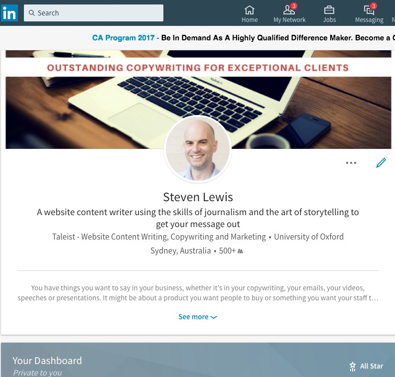 A professionally written LinkedIn profile is working for you 24/7.