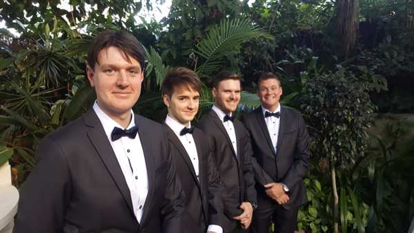 Need a wedding celebrant who can get the groom and his boys in line?