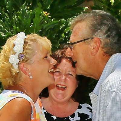 Anne and Eddie Mostert, married at home