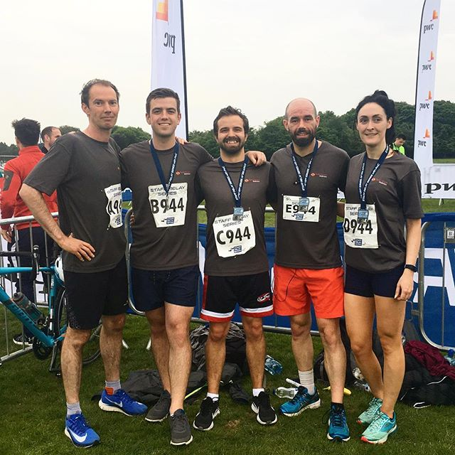 A massive well done to @spectrumwellness who came 121st out of 1000 teams in the @staffrelay race last night! Two of our marathon runners took part, with Ross smashing his 5K PB and coming home in 25:16, while Brendan finished in 19:08 (who says he's disappointed to not go under 19 but returning from injury so a good time in that context!). Well done to RTE on winning, we're coming for you next year! #run4alaugh #phoenixpark #rundublin #dublinrunners