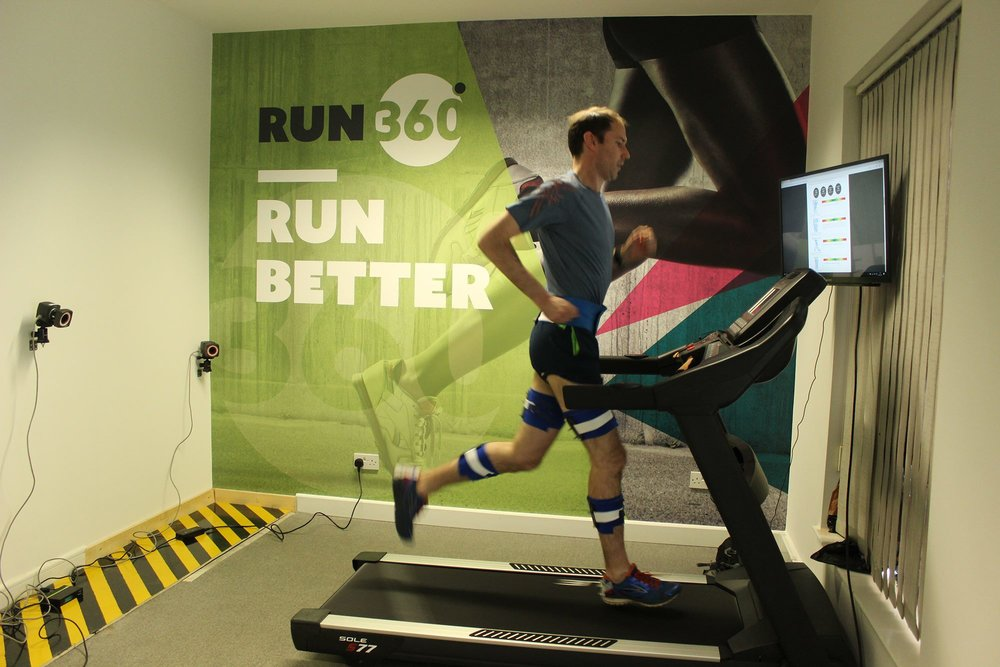 Brendan during his Run360 3D analysis session