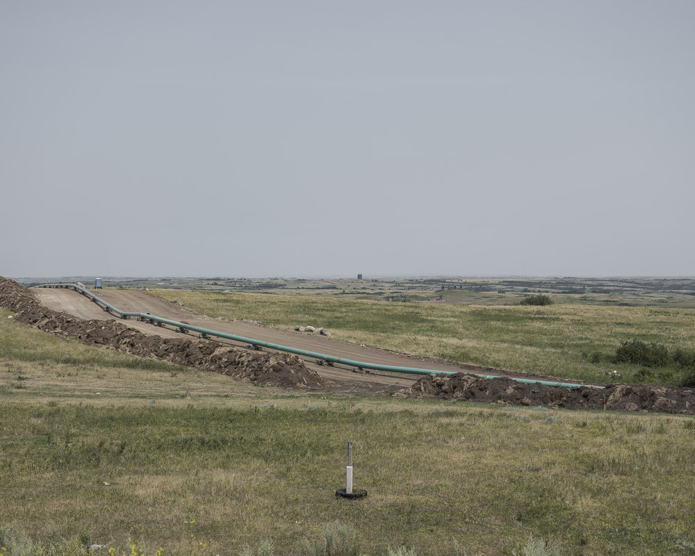 Laying new pipeline, North Dakota, 2017