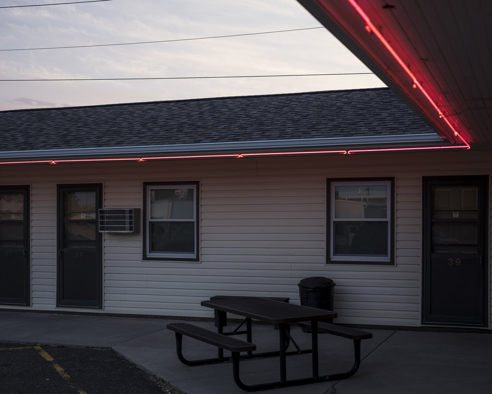 Sunset at MO-REST Motel, 2017