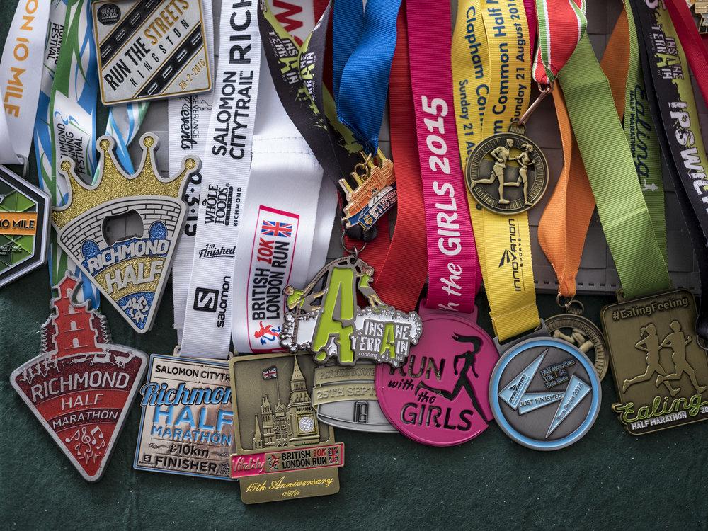 Coralie's medals