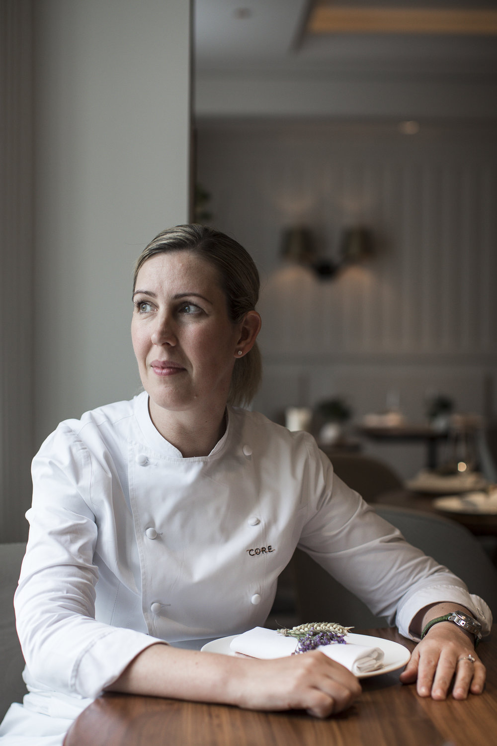Clare Smyth, at her restaurant    Core   , in Notting Hill, London
