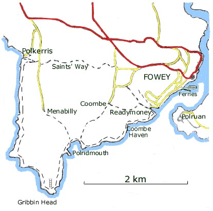 walks from fowey