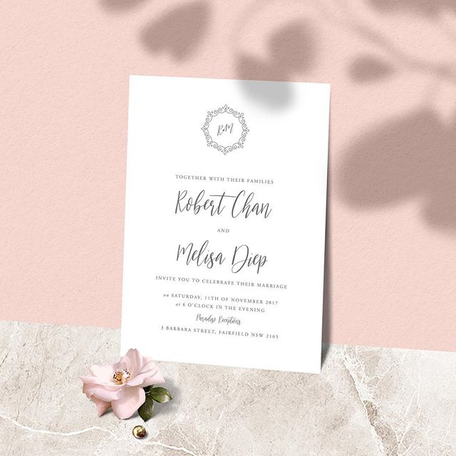 Slowly but surely having time to upload our invitation designs. Featured here is our Cirrus design available to be semi-custom designed & exclusive logo #vorfreudestationery