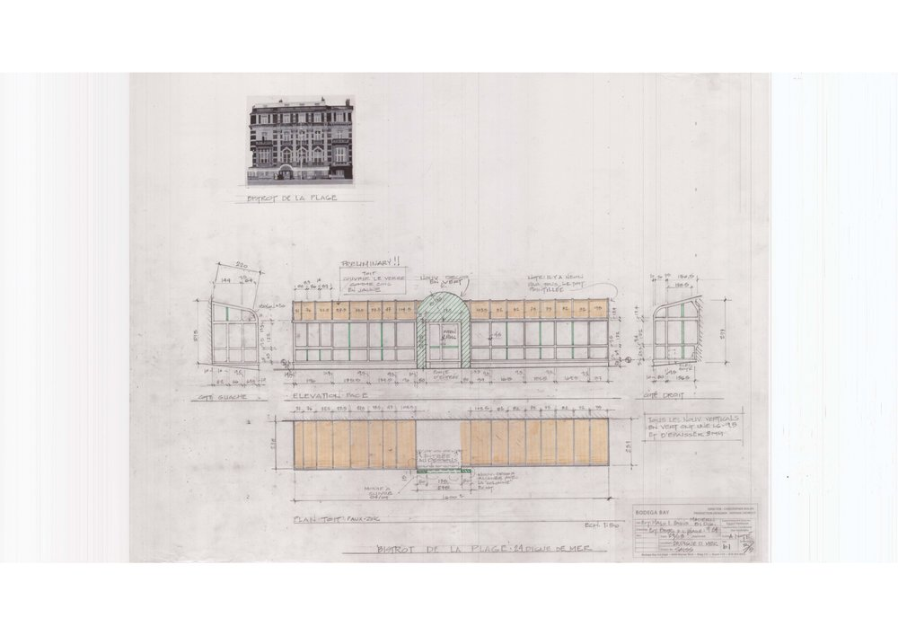 Construction drawing for modifying existing building with period scenery.