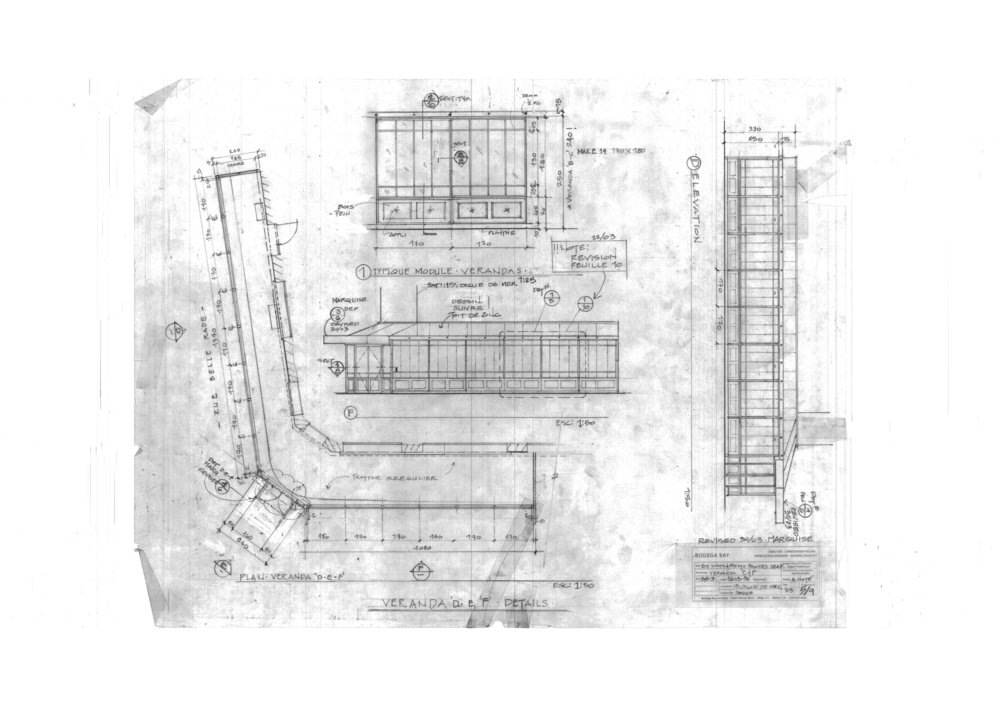 Construction drawing development for modifying existing building with period scenery.
