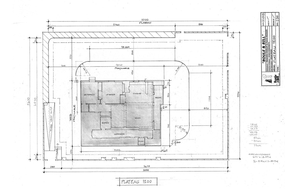 Stage plan for apartment set