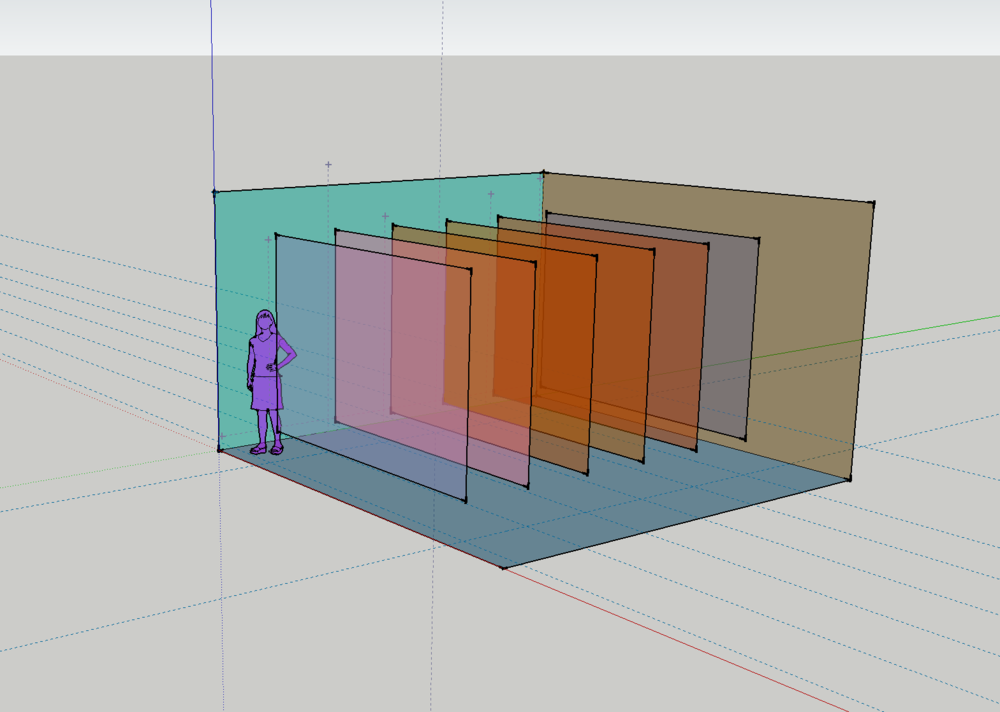 SketchUp development model.